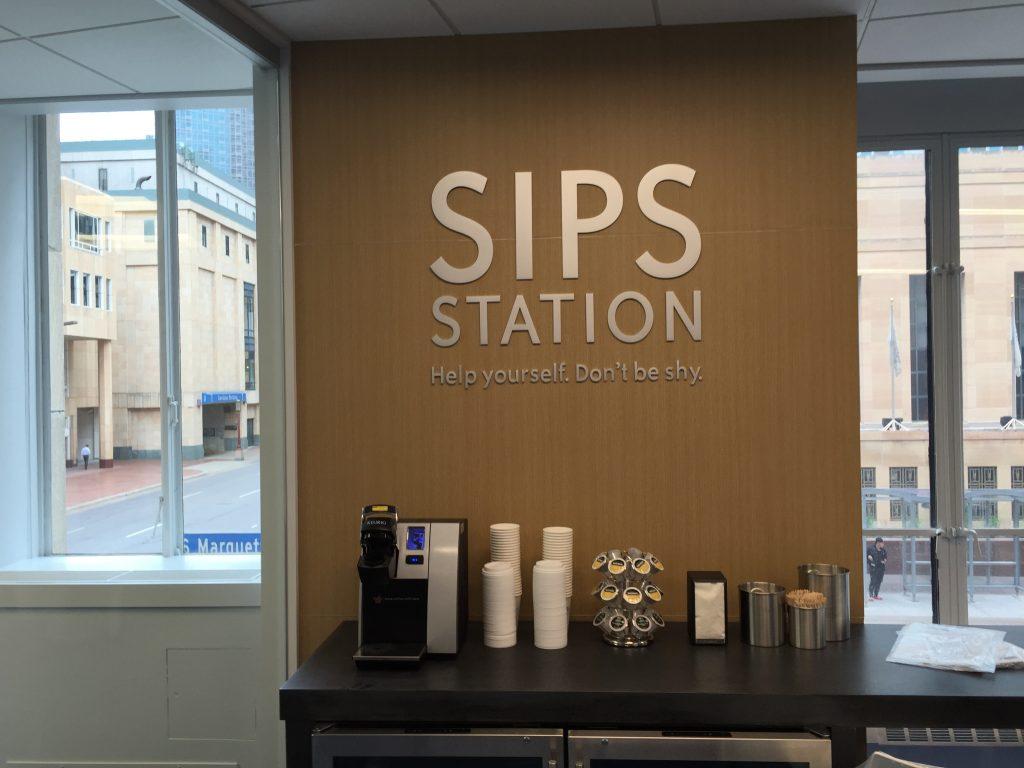 Sips Station Sign